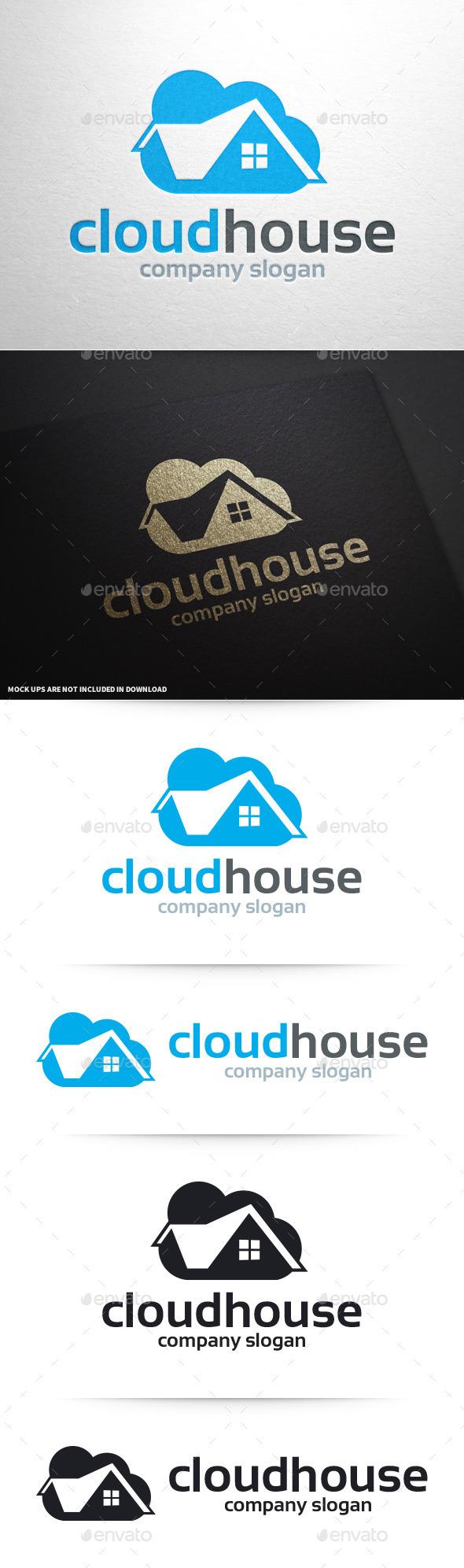Cloud House Logo Template