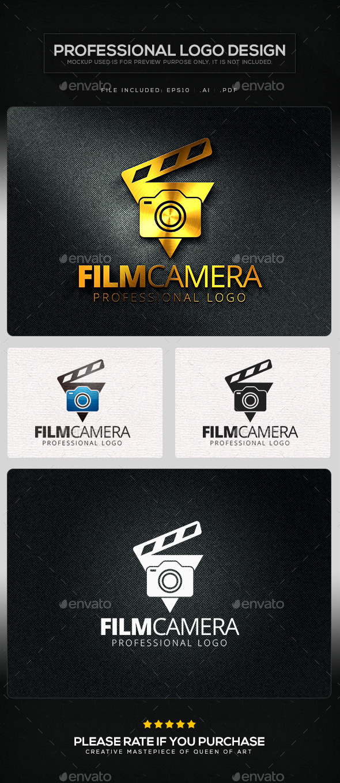 Film Camera Logo Template