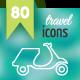 80 Contour Icons Set - GraphicRiver Item for Sale