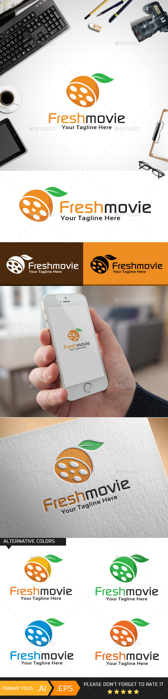 Freshmovie Logo Template