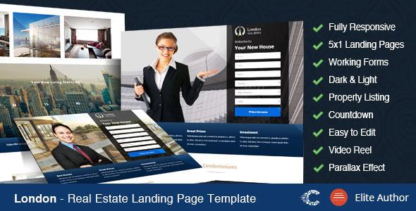 London - Real Estate Landing Page