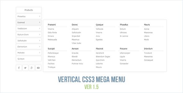 HTML5 CSS Menus from CodeCanyon
