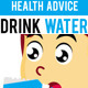Health Advice Drink Water - GraphicRiver Item for Sale