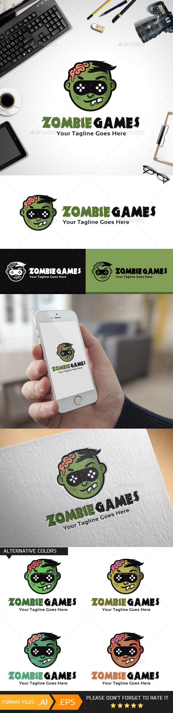 Zombie Games Logo Template