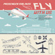 Airline Illustration and Airport Icons - GraphicRiver Item for Sale