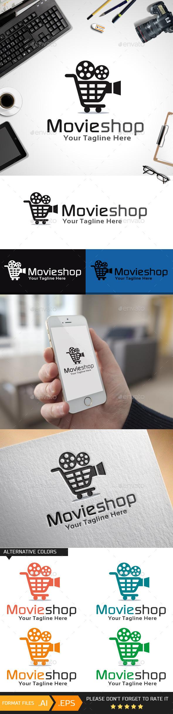 Movie Shop Logo Template