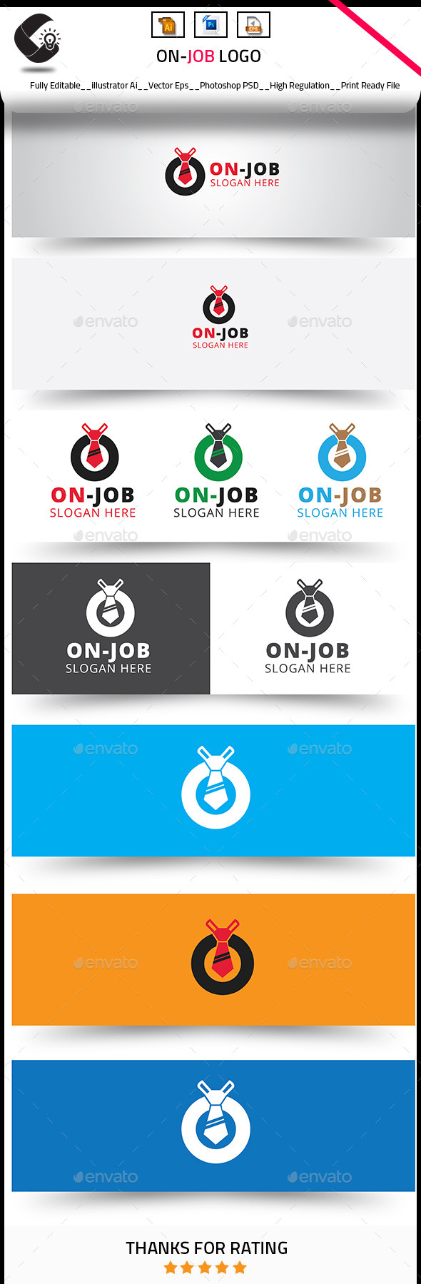 On Job Logo Templates