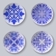 Set of Floral Circular Plates - GraphicRiver Item for Sale