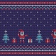 Christmas New Year Knitted Pattern - VideoHive Item for Sale