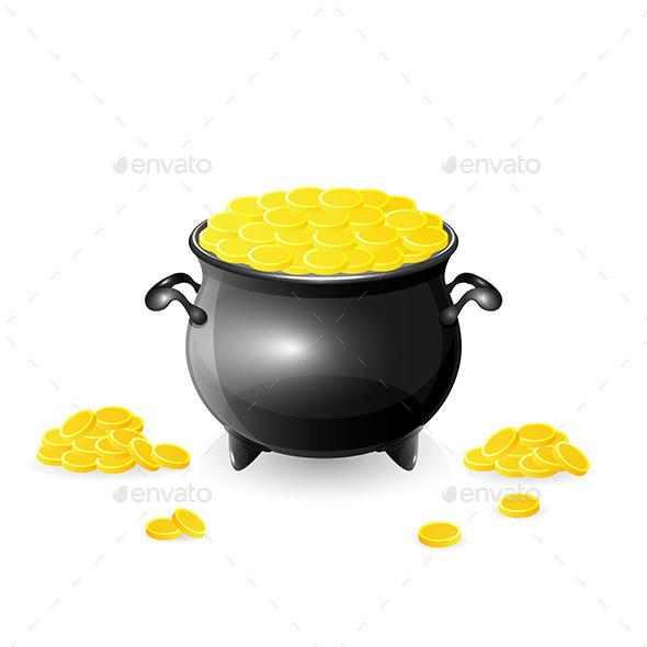 Cauldron with Coins