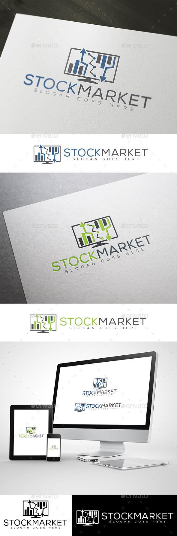 Stock Market & Online Finance Logo