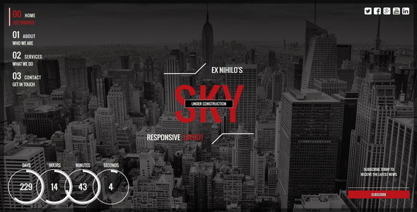 Sky || Responsive Coming Soon Page