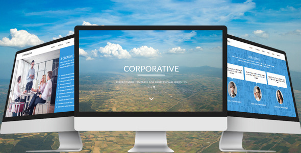 Corporative - One Page Parallax Muse Template