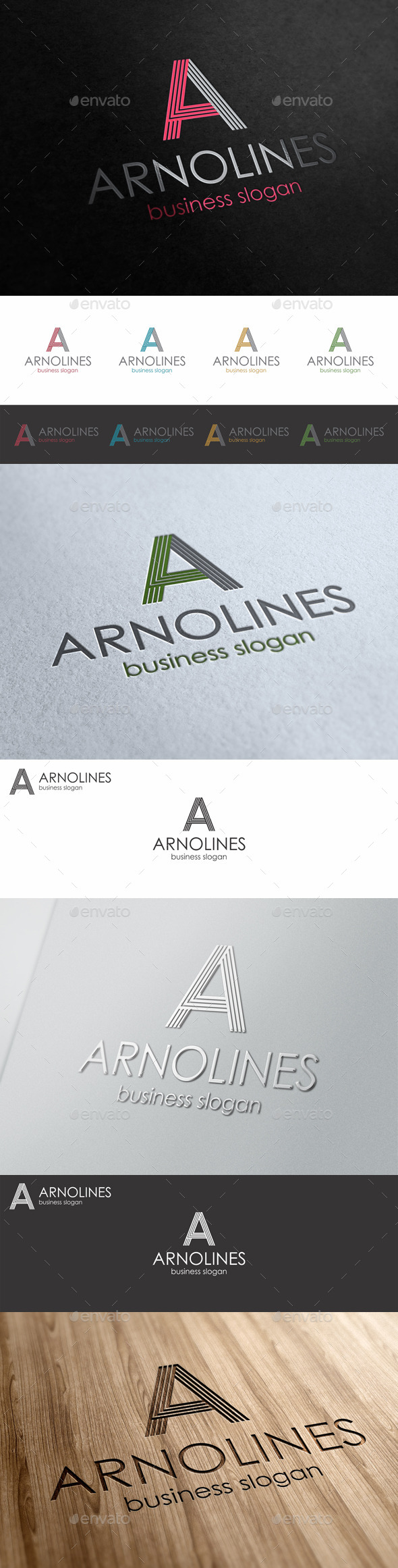 A Line Letter Logo Template