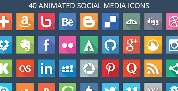 40 Animated SVG Social Media Icons