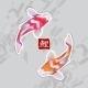 Watercolor Carps Koi Swimming - GraphicRiver Item for Sale