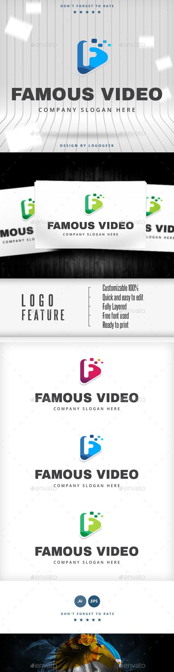 Famous Video Logo