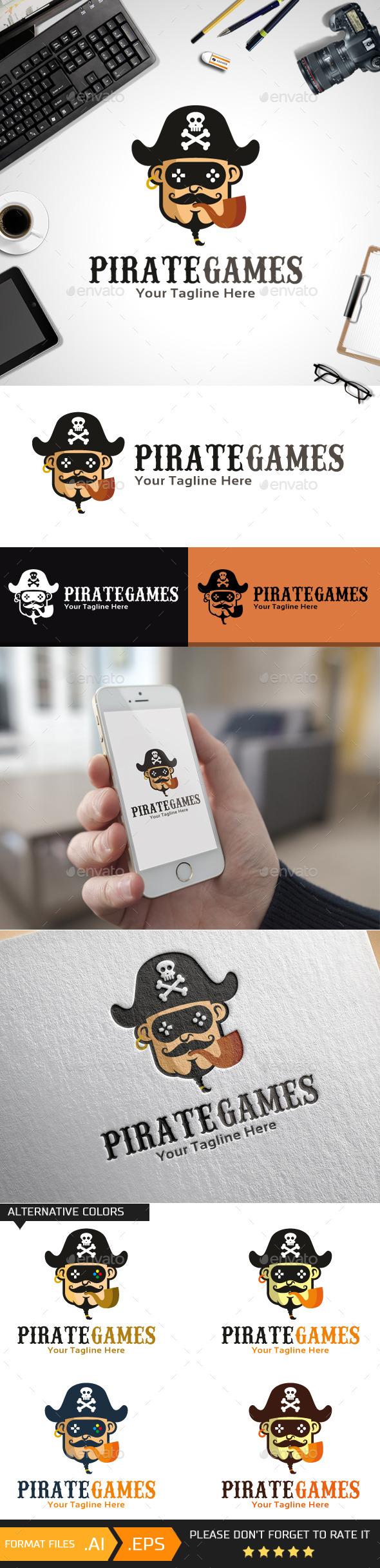 Pirate Games Logo Template