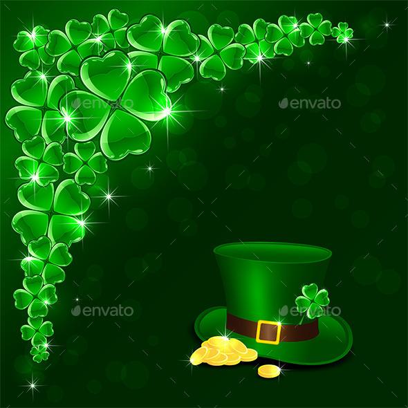 Patricks Day Green Background