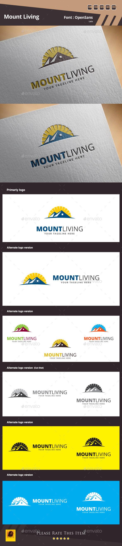 Mount Living Logo Template