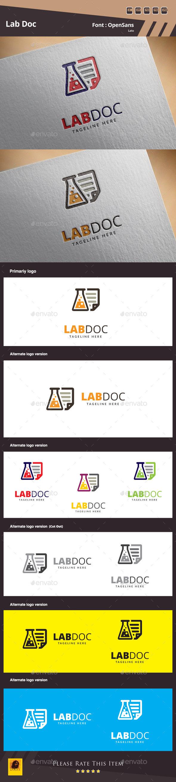 Lab Doc Logo Template