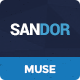 Sandor - Creative Multipurpose Muse Template - ThemeForest Item for Sale