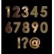 Gold Font Digits - GraphicRiver Item for Sale