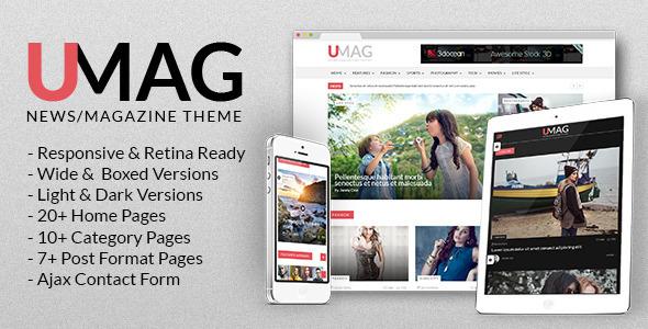 UMag - Aktualności, szablon magazynu i blogu