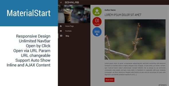 MaterialStart - Responsive Fullscreen Panel Download