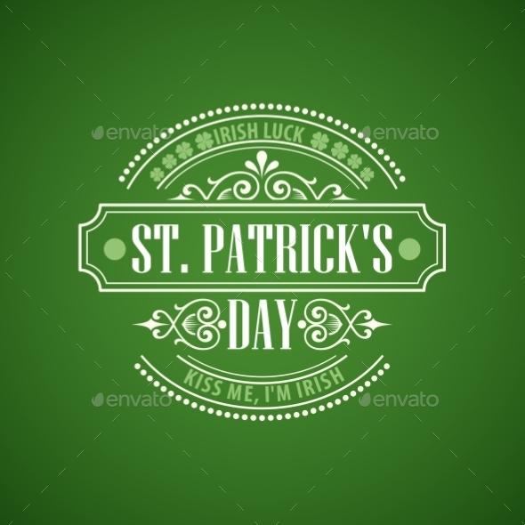 Typography St Patricks Day Emblem