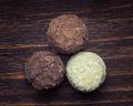 Milk chocolate,white chocolate and dark chocolate truffles place - PhotoDune Item for Sale