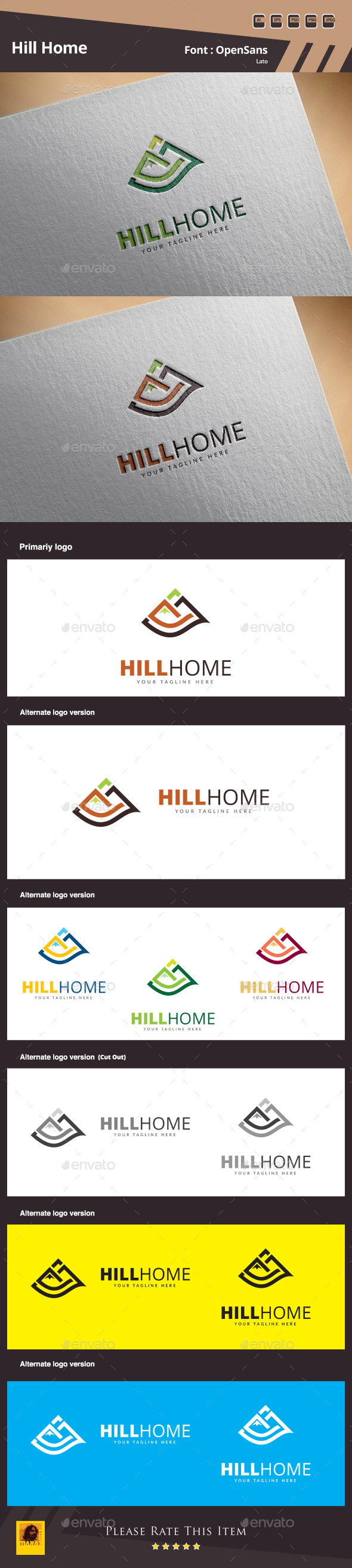 Hill Home Logo Template
