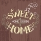 Sweet Home Hand-Lettering - GraphicRiver Item for Sale