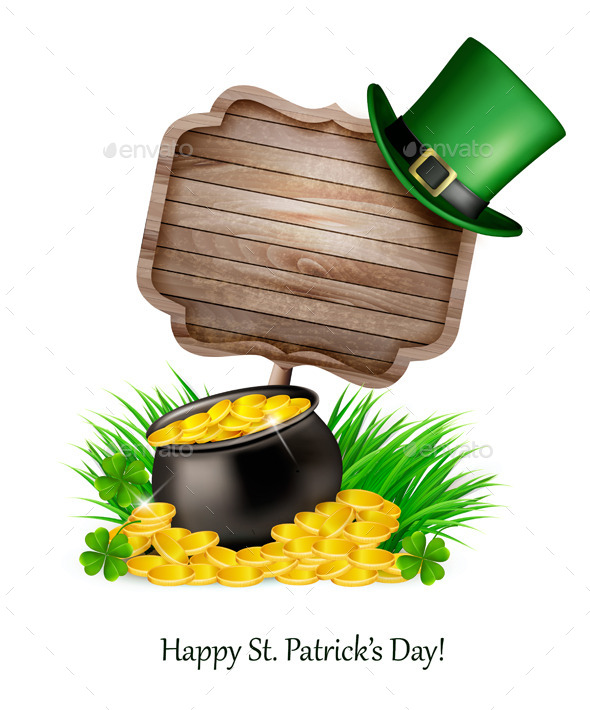 Saint Patrick' Day Background with a Sign