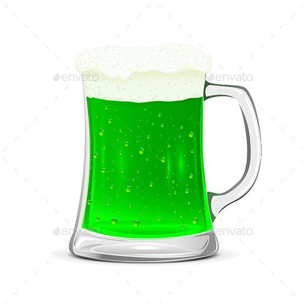 Glass Mug of Green Beer