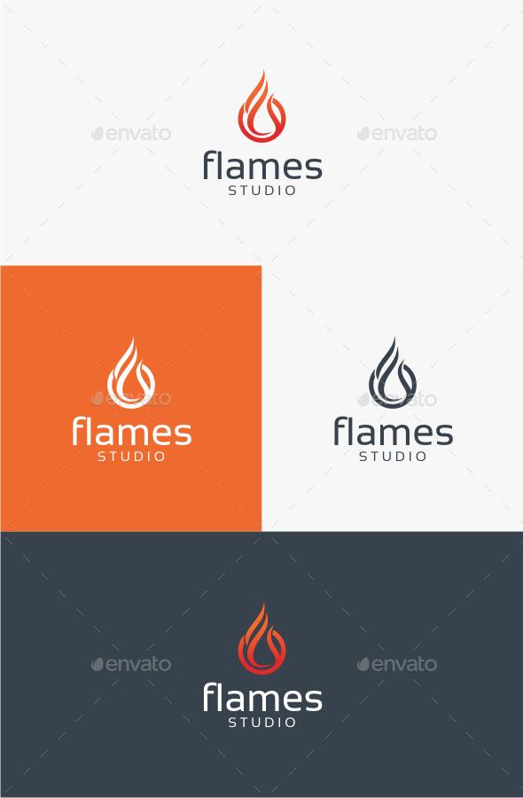 Flames - Logo Template