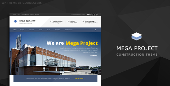 Mega Project - Construction WordPress