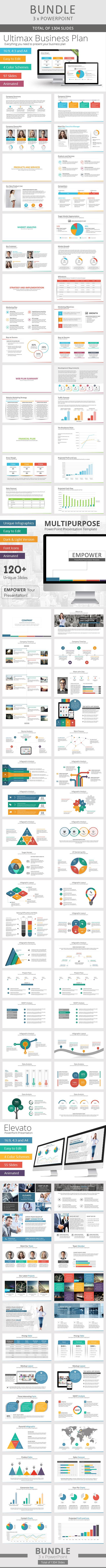 3 x Multi-Purpose PowerPoint Bundle