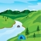 River in Mountain - GraphicRiver Item for Sale