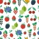 Seamless Pattern with Fruits and Berries - GraphicRiver Item for Sale
