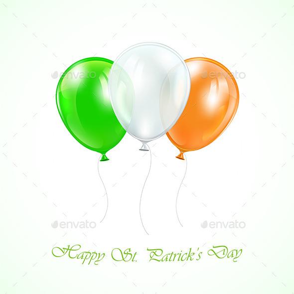Three Patricks Day Balloons