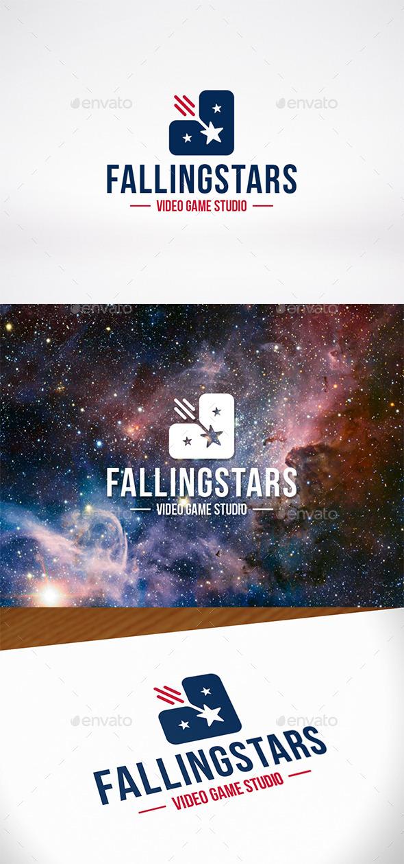 Falling Stars Logo Template