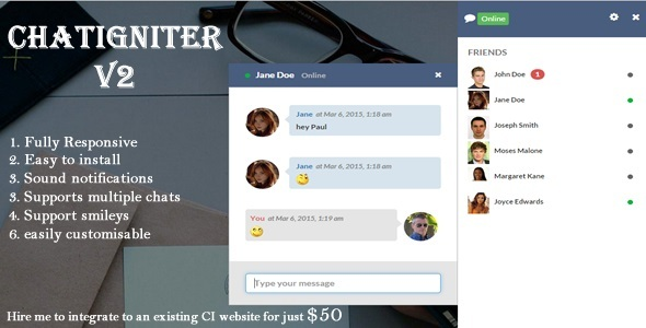 Codeigniter Chat Plugins, Code & Scripts from CodeCanyon