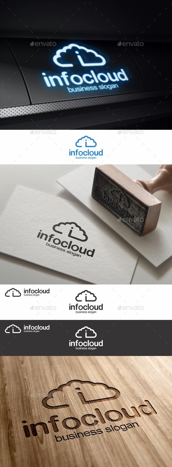 Info Cloud Logo Template