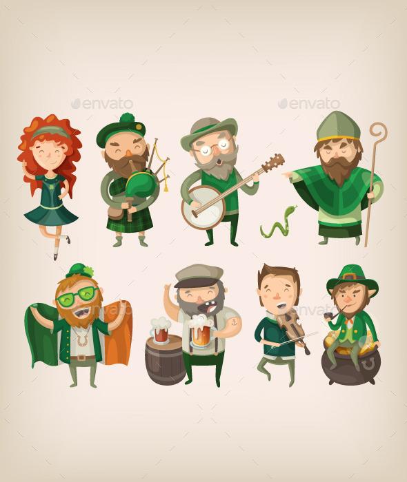 Irish People in Pub.