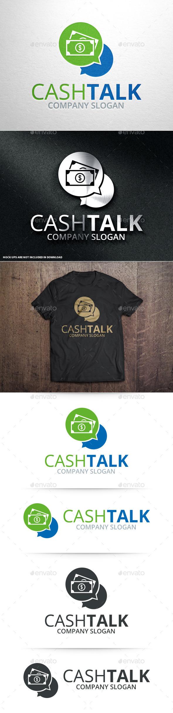 Cash Talk Logo Template