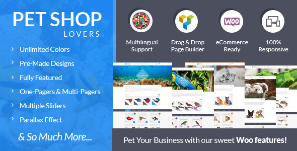 Pet Shop Lovers - Woo/eCommerce WP Theme
