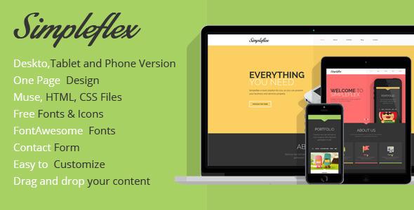 Simpleflex OnePage Muse Template