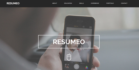 Resumeo - One Page Resume Template