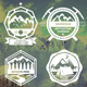 6 Mountain Badges - GraphicRiver Item for Sale